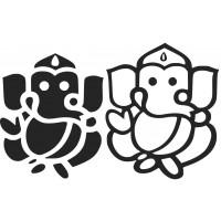 Ganesha 02 SVG cut design - (Free) - Instant Download