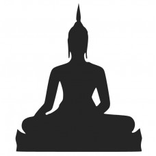 Buddha-01 SVG cut design - (Free) - Instant Download