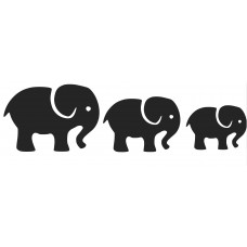 Elephant -002 SVG cut design - (Free) - Instant Download