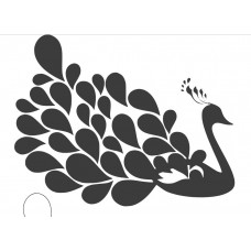Peacock - 001 SVG cut design - (Free) - Instant Download