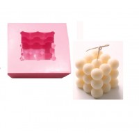 craftial curve_cc_3D Silicone Mold DIY Candle Mould Wax Mold Handmade Candle Mold Holder Making Ball Size...7x7cm
