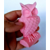 craftial curve_CC_3d big size owl silicone mold