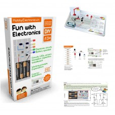 Fun with Electronics kit, Breadboard based electronics circuit making kit