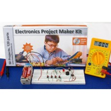 Electronics Project & Circuit Maker Kit, 50 in 1 circuits, eBook, Video DVD