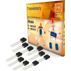 5pcs each of PNP, NPN BC 547, 557 Transistor Electronic Components Electronic Hobby Kit