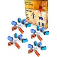 25 pcs assorted capacitors, electrolytic cap, electronics spare parts