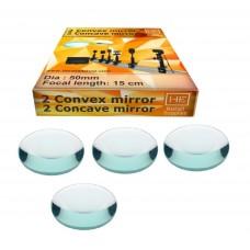 2 concave 2 convex mirror