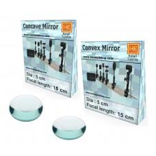 1 Convex & Concave Mirror, Focus 15 cm, Dia 5cm