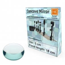 1 Glass  Concave mirror, Focus 15cm, Dia 5cm