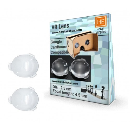 1 Pair of Biconvex Lenses for Google Cardboard VR Project 25mm