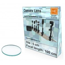 1 Glass  Convex lens, Focus 100cm, Dia 5cm