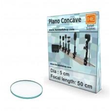 1 Glass  Plano concave lens, Focus 50cm, Dia 5cm - Special Price Listing