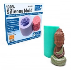 IndoSilico 3D Buddha statu silicone candle mold, Silicone DIY Art Mould Multipurpose Clay, Resin, Sugar, Cement Craft Project