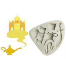 craftial curve_cc76_Aladdin Myth Themed Knife Teapot House Silicone Mold