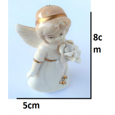 craftial curve_CC210_ Flower Holding Angel Girl Flexible Reusable Silicone Mold