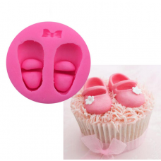 craftial curve_CC_36_ Baby Girl Shoe Cupcake Decorating Mold