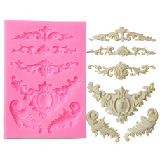 craftial curve_CC74_ Lace Cake Mold Silicone Mold