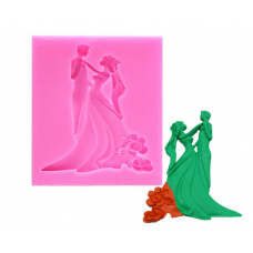 Craftial Curve CC_80_Wedding Ceremony Couple Bride Groom 3D Mold Silicone