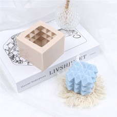 Craftial Curve_Bubble Cube Candle Spherical Silicone Mould 3D Diamond Square Rectangular Soap Resin Mold