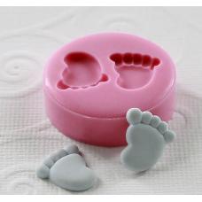 craftial curve_CC40_ Very Very Tinny (12mm) Mini Feet/Foot, Silicone DIY Art Mould