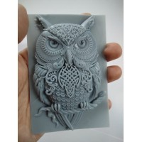 craftial curve_CC144_3d owl silicone mold