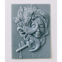 craftial curve_CC92 krishna creative decoration fram silicone mold