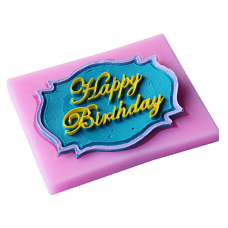 craftial curve_CC40_Happy Birthday Silicone Mold