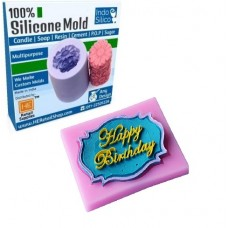 IndoSilico  Happy Birthday Silicone Mold DIY Art Mould Multipurpose Clay, Resin, Sugar, Cement Craft Project
