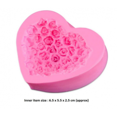 craftial curve_CC70_ Heart Shaped soap Mold, Silicone DIY Art Mould