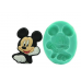 IndoSilico Cute Mickey Mouse Fondant Mould DIY Art Mould Multipurpose Clay, Resin, Sugar, Cement Craft Project