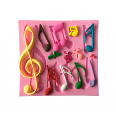 craftial curve_CC114_ Music Note Silicone Mold