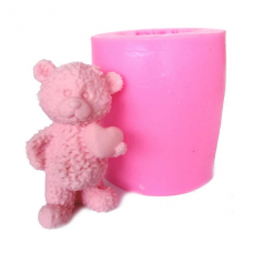 craftial curve_CC180_Lovely 3D Teddy Bear Silicone Mold, Silicone DIY Art Mould