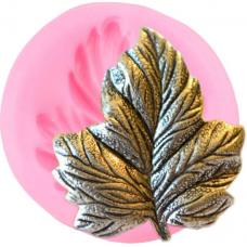 craftial curve_cc_24_ 3D chinar Leaf  Fondant Silicone Mould