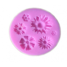 Craftial Curve_cc_30  3D Flower Silicone Mold, Silicone