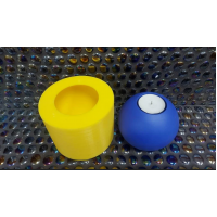 craftial curve_ sphere tealight holder silicone mould, plaster mould, candle mould.
