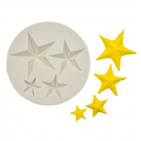 Craftial Curve_49  3D Star Shape Silicone Cake Mold, Silicone