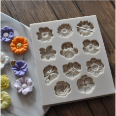 craftial curve_CC78_ Mini Flowers Silicone Mold, Silicone DIY Art Mould