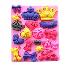 Craftial Curve_cc58_Mini Assorted Bows Heart Silicone Mold