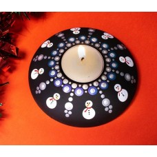 CraftialCurve_Tealight holder silicone mold for dotting pattern flexible candle stand mould