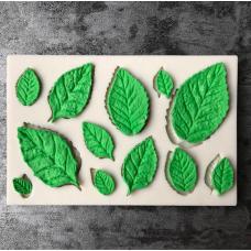craftial curve_CC38_Tree Leaf Press Molding Foil Mold, Silicone DIY Art Mould