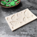 IndoSilico Tree Leaf Press Molding Foil Mold, Silicone DIY Art Mould Multipurpose Clay, Resin, Sugar, Cement Craft Project