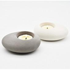 craftial curve_Stone Pebble Candle Holder  Tea Light Holder | Home Decor