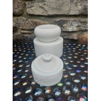 craftial curve_Round Storage Container Silicone Mold / Mould with Lid / Jewelry Earrings Organizer Box
